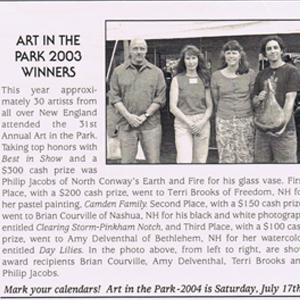 Art in the Park 2003 Winners