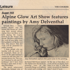 Alpine Glow Art Show features paintings by Amy Delventhal